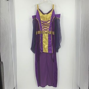 Enchanting Maiden purple and gold costume